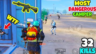 i Clutched a Whole Squad And Met The Most Dangerous Camper in PUBG Mobile • (32 KILLS) • PUBGM HINDI