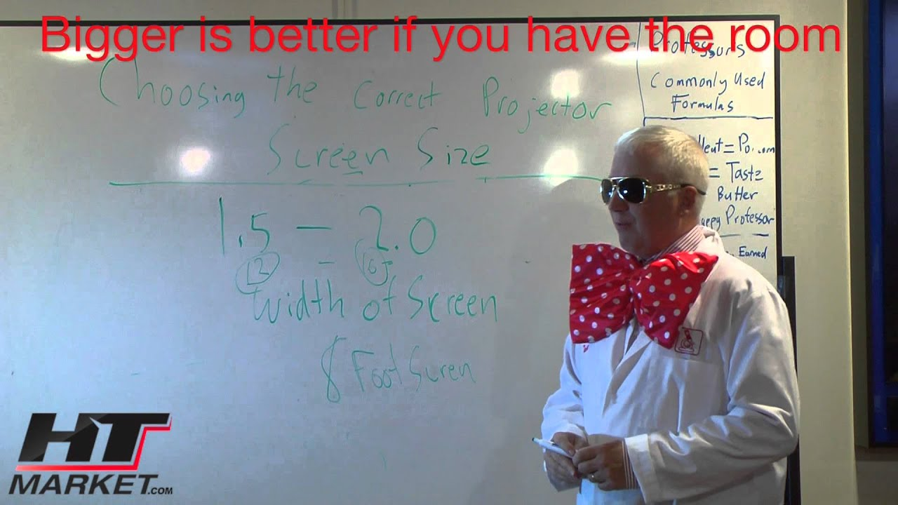 Projector Screen Size Calculator - YouTube