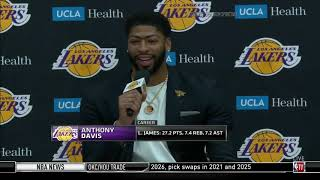 Anthony Davis Full Introduction   Los Angeles Lakers