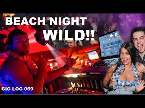 DJ GIG LOG 069 | My best DJ mixing yet | Beach Night at the Club | Packed at Pigskin