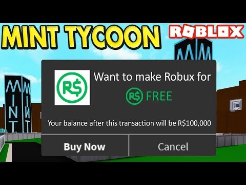 Making FREE ROBUX in Mint Tycoon - #5 (Roblox)