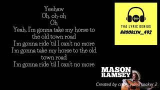 Mason Ramsey - Old Town Road (Verse) (LYRICS!!!)