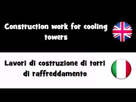 TRANSLATE IN 20 LANGUAGES = Construction work for cooling towers