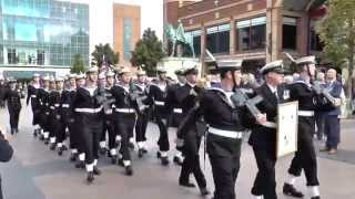 HMS Diamond - Freedom of Entry Parade Coventry 16 October 2014