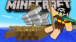 Minecraft 1.8 Snapshot: Moving Boat! Sailing Pirate Ship Ride in Vanilla (No Mods) 14w05b