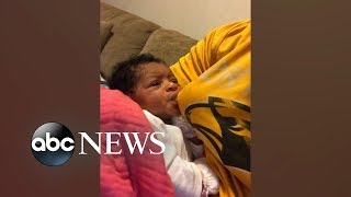 Clever dad tricks baby with bottle feeding | GMA Digital