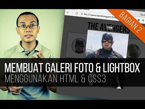 Membuat GALERI FOTO + LIGHTBOX Dengan HTML & CSS3 (Bagian 2)