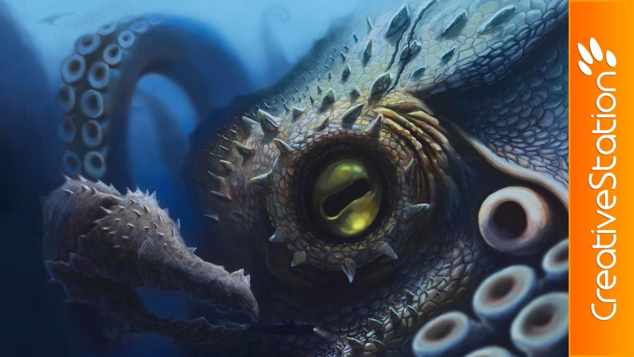 Kraken - Digital Painting (#Photoshop)   CreativeStation ...