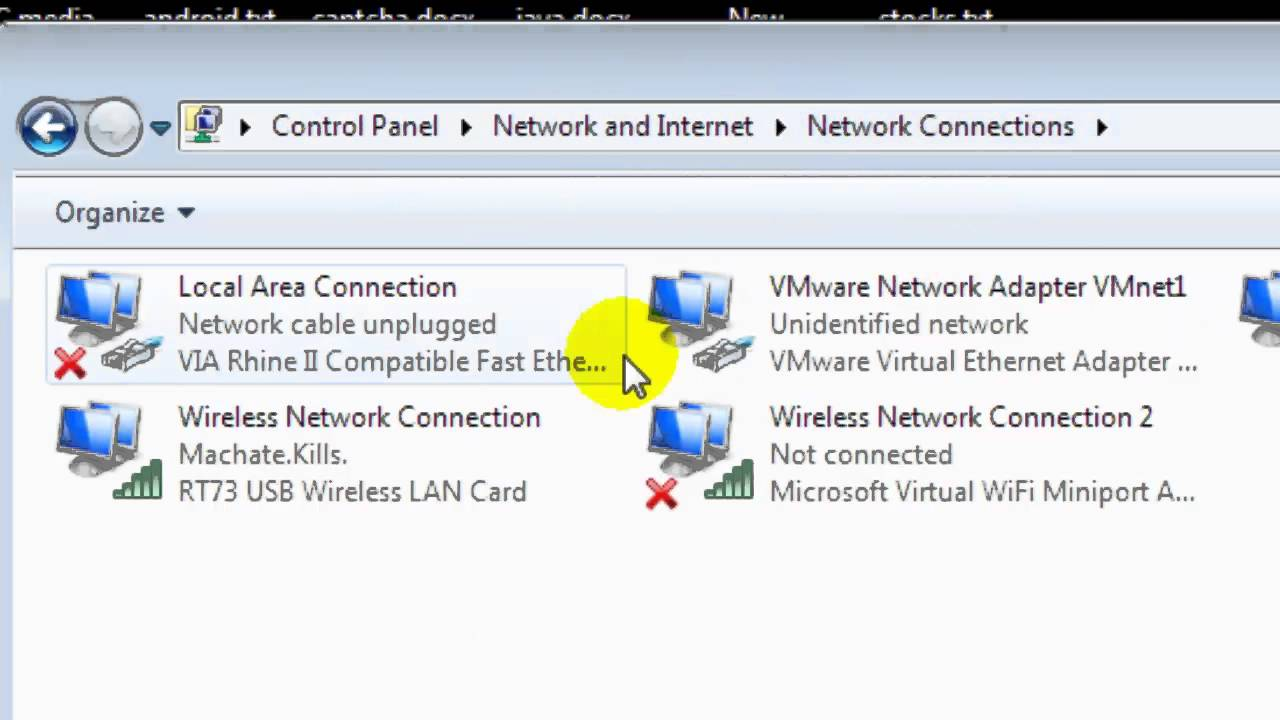 wireless network connection enable