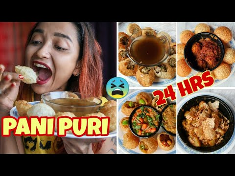 I ATE PANIPURI FOR 24 HOURS !! FULL DAY OF EATING - SPICY PHUCHKA / GOLGAPPA ONLY | INDIA