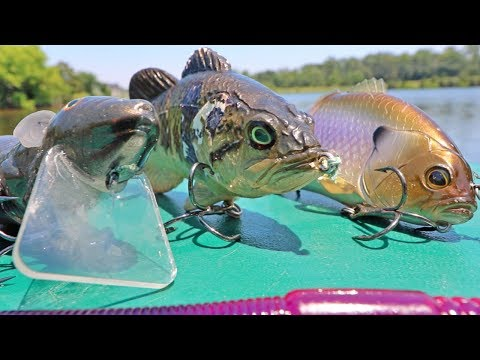 Surprising Catches Using BIG BAITS & Testing Custom Lures On Small Waters