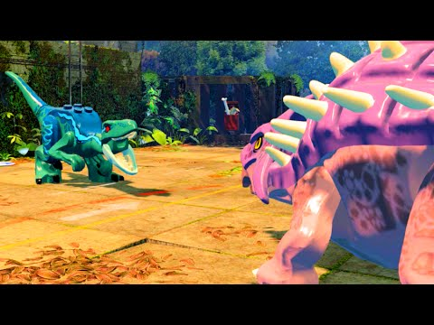 LEGO Jurassic World Ankylosaurus vs Raptors Mini Boss Fight, Jurassic Park 3
