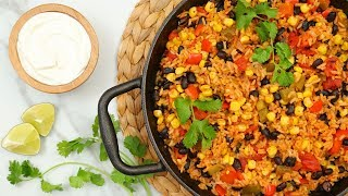 3 Delicious Rice Skillet Recipes | Herbed Chicken, Cheesy Lasagna, and Vegetarian Mexican