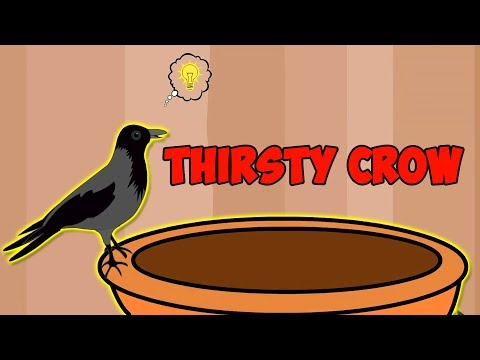 Thirsty Crow - English Story | Moral Stories For Kids | Panchatantra Tales in English