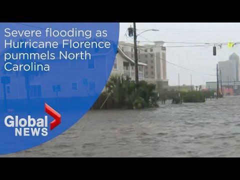 Hurricane Florence: Storm brings massive flooding to North Carolina