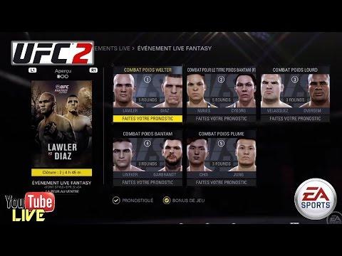 UFC 2 Ps4 - UFC Lawler Vs Diaz Live EventFantazy PPV