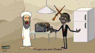 Learn English Vocabulary - New Word: Abscond - The Osama & Obama Story
