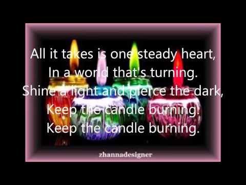 Keep The Candle Burning lyric (Point of grace)