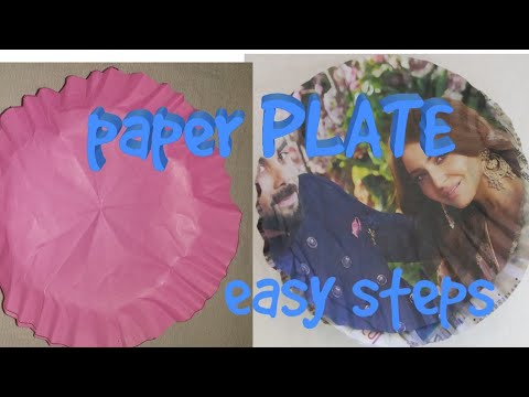 DIY idea from old paper ||how to make paper plate at home||origami paper work