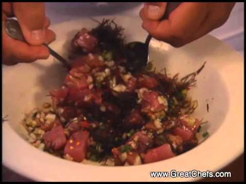 Fried Poke with Keahole Ahi Nori by Sam Choy