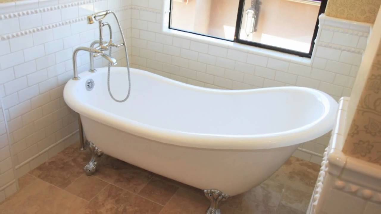 About painting a bathtub youtube for Claw foot bath tub for sale