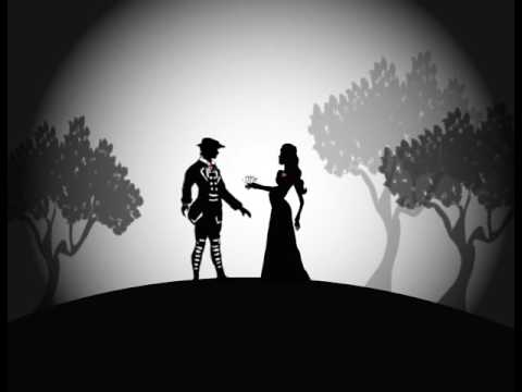 Light Box image on a prince and princess on a hill amongst the trees
