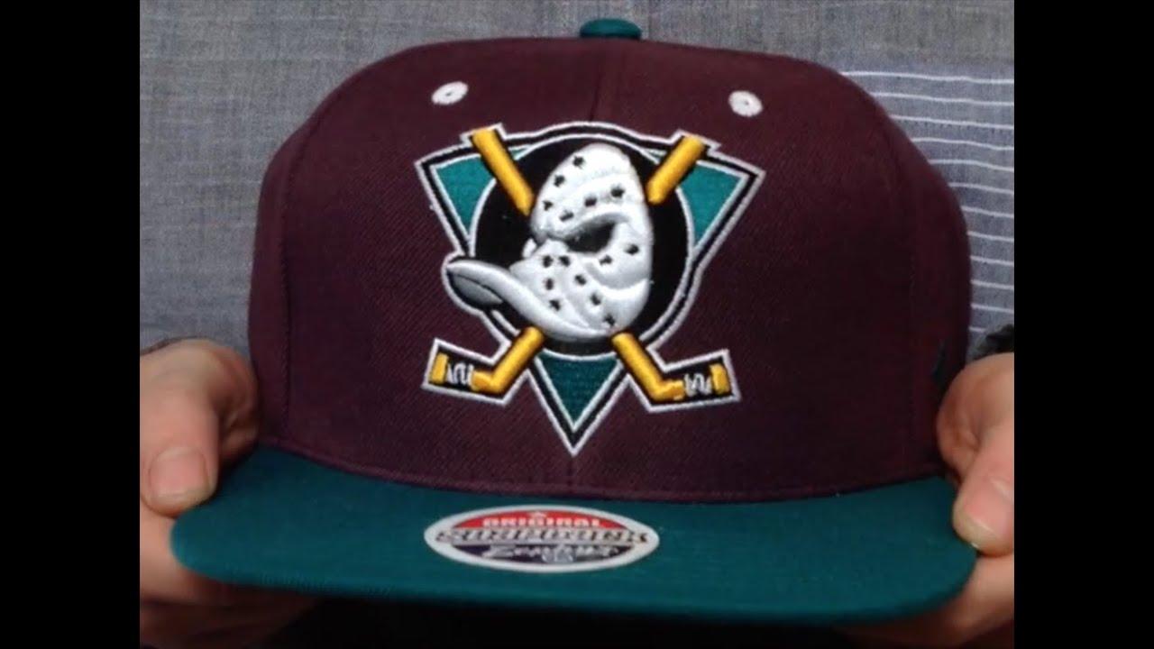 Mighty Ducks Vintage Team Snapback Plum Teal Hat By Zephyr Youtube