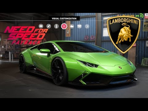 Need For Speed Payback Lamborghini Huracan Vehicle