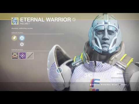 Destiny 2 - Warmind: ETERNAL WARRIOR Exotic Titan Helmet