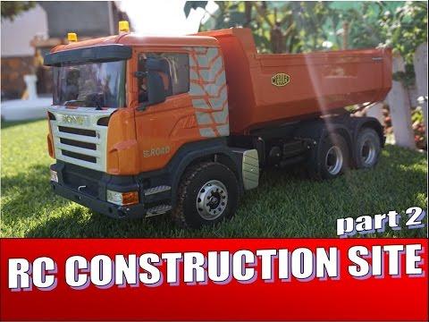RC Construccion PARTE 2 con camion Scania , excavadora Hitachi de radio control.