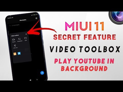 VIDEO TOOLBOX MIUI 11 HIDDEN FEATURE | Play Youtube Video In Background