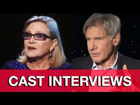Star Wars The Force Awakens Interviews - Harrison Ford, Carrie Fisher & JJ Abrams