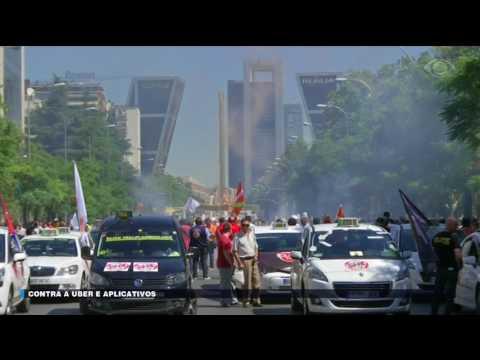 Protesto Reúne Milhares De Taxistas Na Espanha
