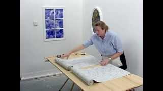 Wallpaper Installation - Pattern Match: Half Drop » American Blinds Video Site