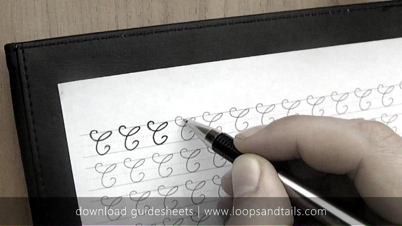 Learn Cursive Handwriting Capital C Youtube