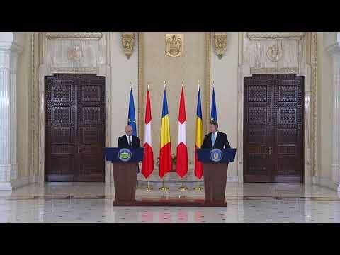 STIRIPESURSE.RO Declaraţie de presă comună a presedintelui Elveției și a președintelui României