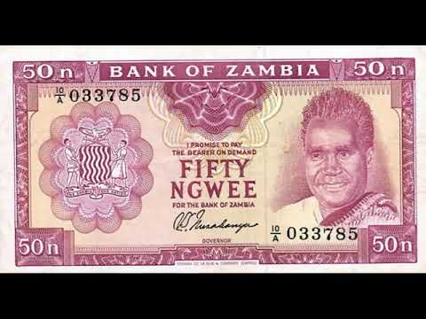 Paper money of Zambia is the Kwacha of Zambia - banknote - Bank notes