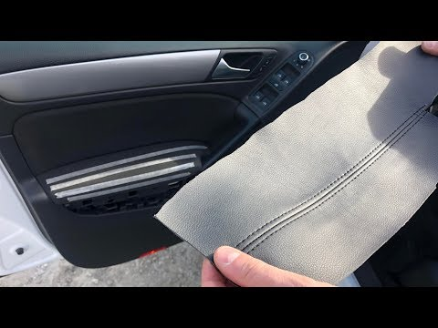 How To Wrap (upholstery) With Leather Your VW Golf Mk5, Mk6 Interior Door Panels In 5 Steps