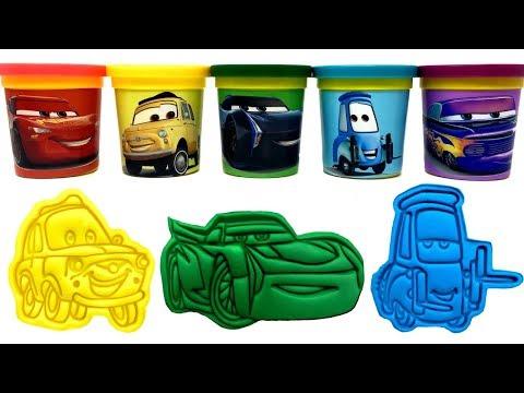 Cars 3 Jackson Storm Luigi Guido Play-Doh Molds & Surprise Toys Learn Colors