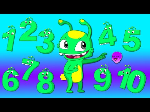 Groovy The Martian & Phoebe - Let's learn to count with baby shark - Learn the numbers from 1 to 10