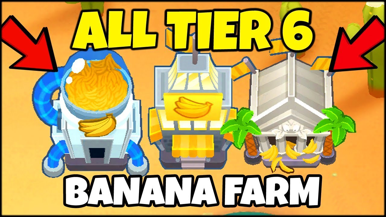 EVERY SINGLE MAX TIER 5 BANANA FARM UPGRADE IN BTD 6 // Bloons TD 6  Gameplay (BTD 6 Gameplay)