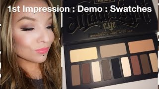 1st Impression : Demo : Swatches : Kat Von D Shade & Light Eye Contour Palette & Brush