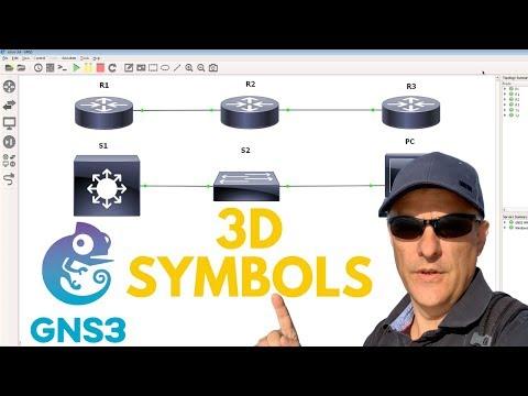 GNS3 Custom 3D Symbols And Templates Like Cisco Icons: CCNA   Python   Networking