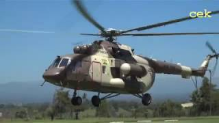See how Kenya president landed at Kenya police College kiganjo in. Military chopper