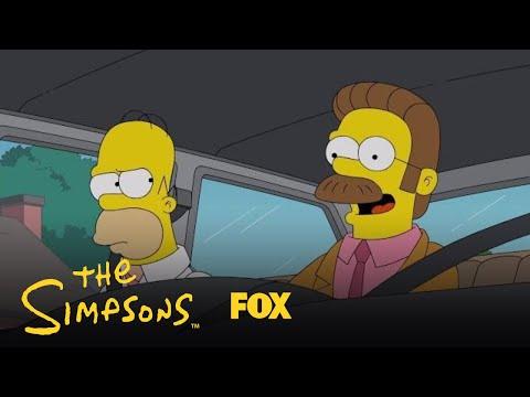 Homer & Flanders Carpool To Work   Season 29 Ep. 19   THE SIMPSONS