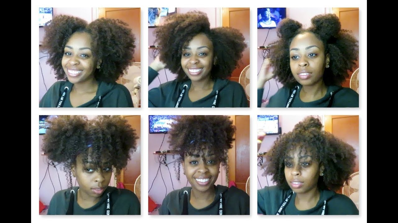 killing it even on bad hair days!! | 12 quick & easy hairstyles on old natural hair curls