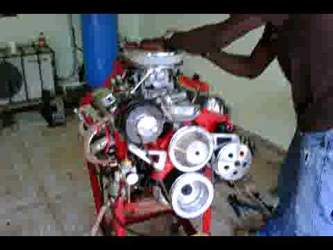 First Start On Rebuilt 305 Engine Youtube