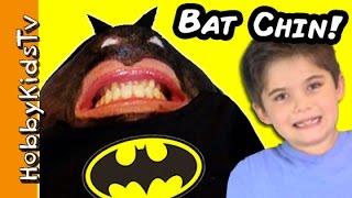 Batman CHIN Face! Superhero FUNNY Chinterview with HobbyMom HobbyKidsTV