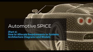 (Part 3) Automotive SPICE: How to allocate requirements to systems architecture diagrams and models