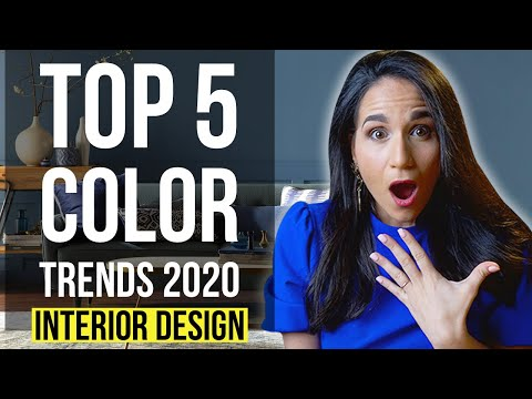 INTERIOR DESIGN TOP 5 COLOR TRENDS 2020 | Home Decor Tips & Ideas On How To Use And Combine Colors